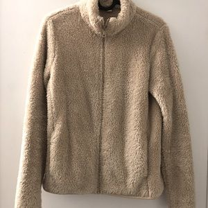 Uniqlo fluffy yarn fleece full-zip jacket